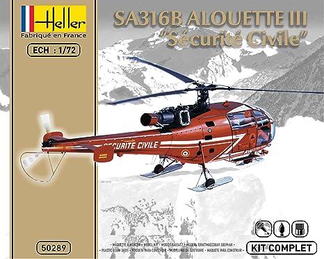 Heller - 50289 - Maquette - Alouette III - Sécurité Civile