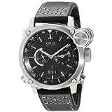 Oris Men's 690 7615 4154LS BC4 Flight Timer Automatic Black Dial Watch (Color: Black)
