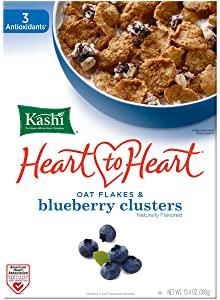 Kashi Heart to Heart, Wild Blueberry Clusters, 13.4 Oz