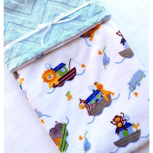 Noahs Ark Baby Blanket - Chevron Blanket - Baby Blanket - Minky Baby Blanket