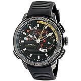 Timex Men's TW2P44300 Intelligent Quartz Yacht Racer Black Silicone Strap Watch (Color: Black/Gunmetal)