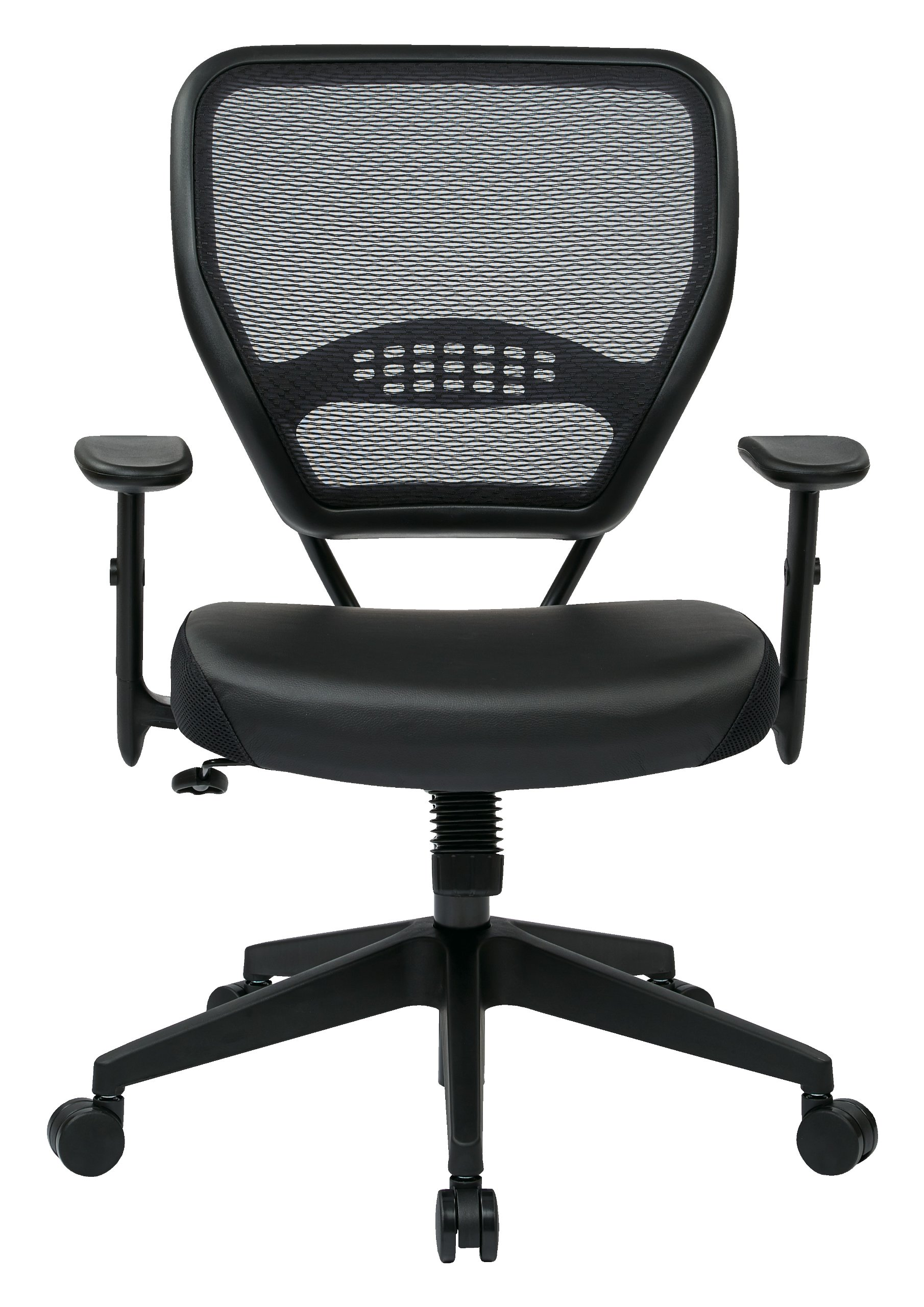 Office Star Space Professional Air Grid Back Managers Chair With Eco  Leather Seat And 2
