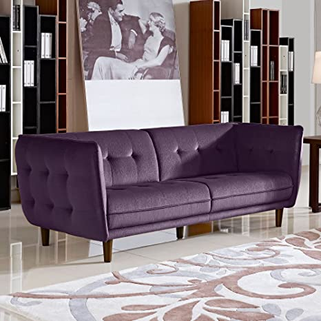Modern Venice Button Tufted Fabric Sofa