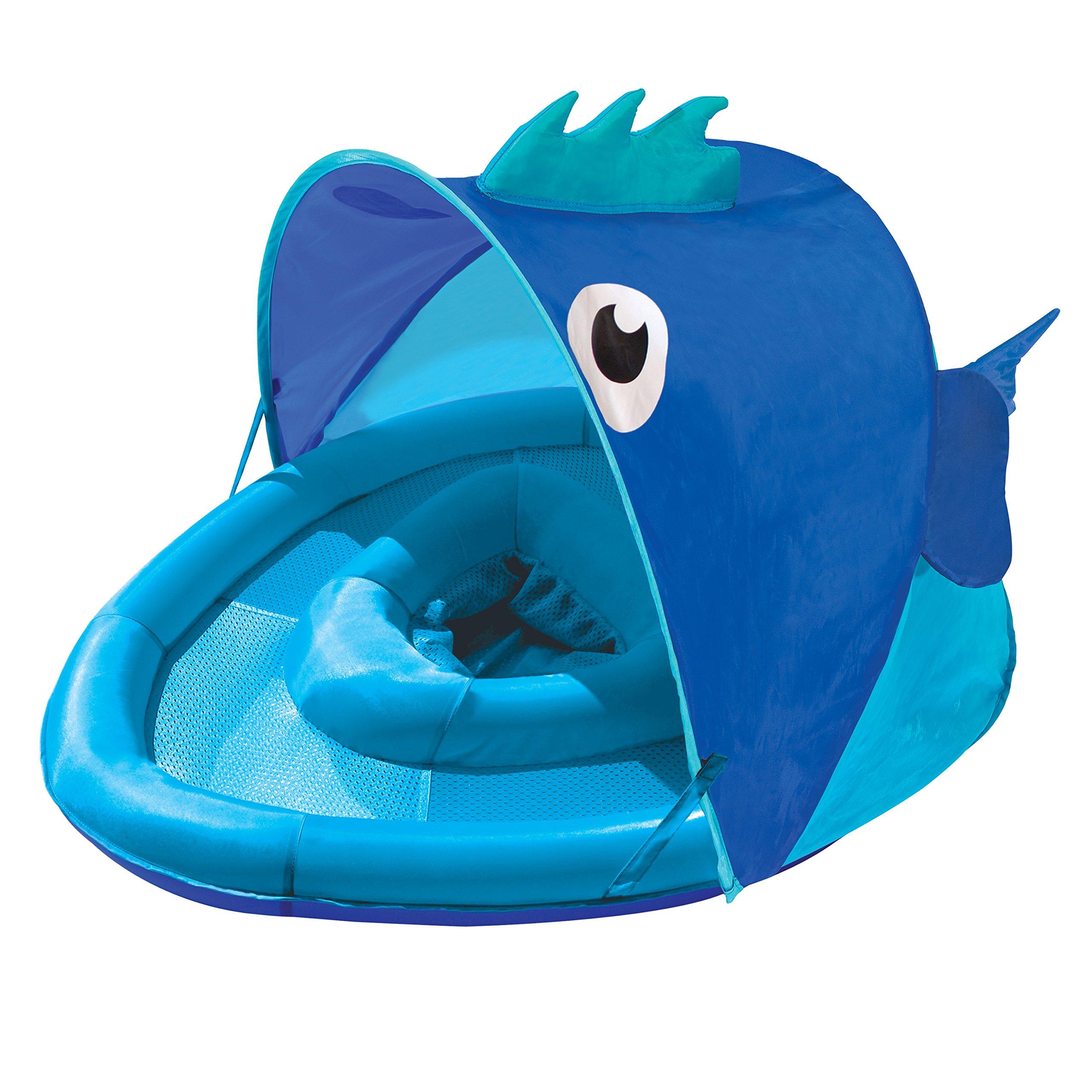 Swim School Confidence Building System Fish Sun Shade Baby Float Blue Ebay