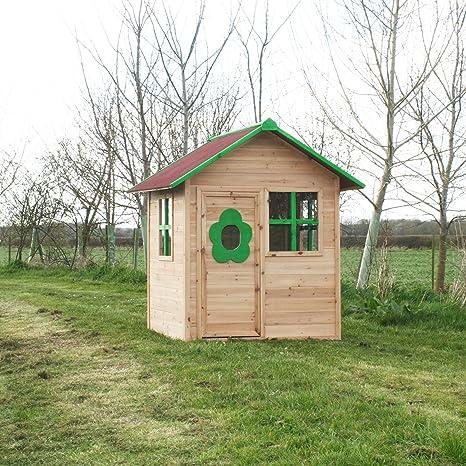 elmsvalley hochbett aus holz playhouse bereits bemalte children. Black Bedroom Furniture Sets. Home Design Ideas