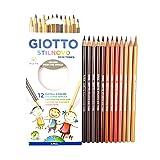 Giotto Stilnovo Skin Tones Colouring Pencils - School Kids Art Student