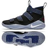 NIKE Lebron Soldier XI 897644 005 Black/White/Deep Royal Blue Men's Basketball Shoes (9.5) (Color: Black/White/Deep Royal Blue, Tamaño: 9.5 D(M) US)