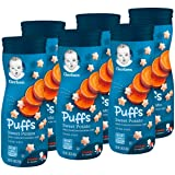 Gerber Graduates Puffs Cereal Snack, Sweet Potato, Naturally Flavored with Other Natural Flavors, 1.48 Ounce, 6 Count (Tamaño: 6 Count)