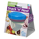Sistema To Go Collection Snack 'N' Nest Food Storage Container, Color Received May Vary, Set of 3, 150 ml, 305 ml, 520 ml