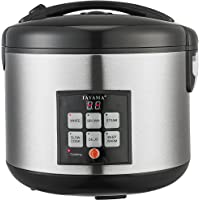 Tayama TRC-100 10-Cup Digital Rice Cooker and Food Steamer