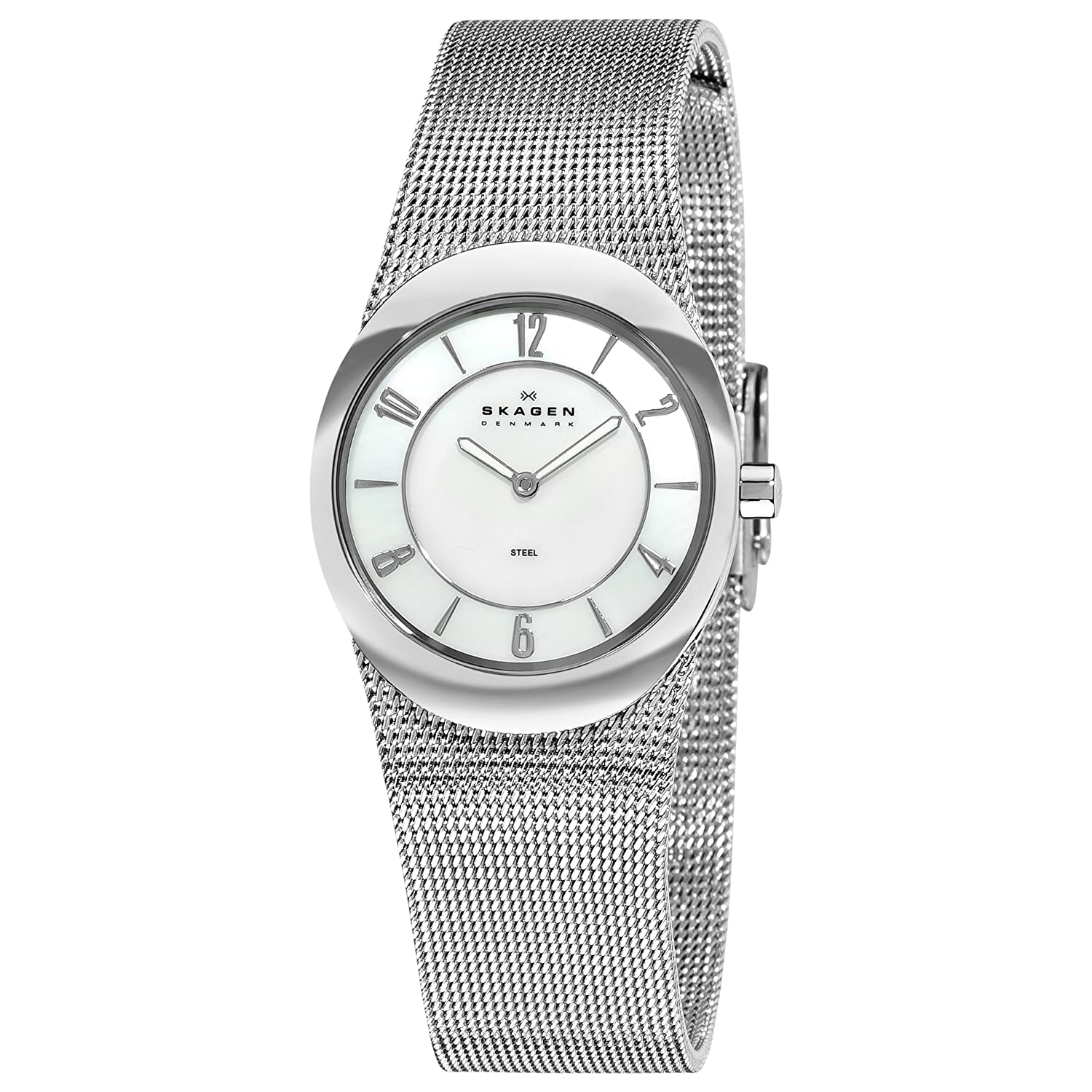 Skagen Women&#8217;s 564XSSSMP Steel Mother-Of-Pearl Arabic Numeral Dial Watch $65.00