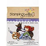 Stamping Bella EB713 Cling Stamps-Tiny Townie Daphme & Her Dogs, Blue (Color: Blue)