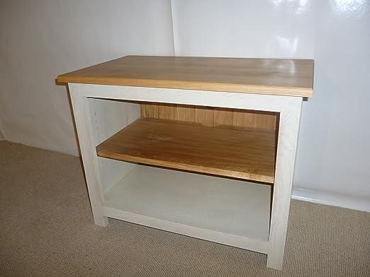 Really Good Collection Range - Mueble bajo para televisor (madera de roble, 700 mm), color blanco