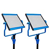 Dracast DRASP-LK-2X500DN Daylight LED500 Video Panel 2-Light Kit, Blue (Color: Blue)