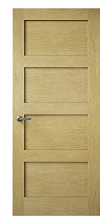 Premdor 82337 686 x 1981 x 35 mm Shaker Style Interior Door - Oak