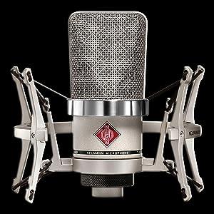 Neumann TLM 102 Studio Set | Cardioid Large Diaphragm Condenser Microphone Set Nickel