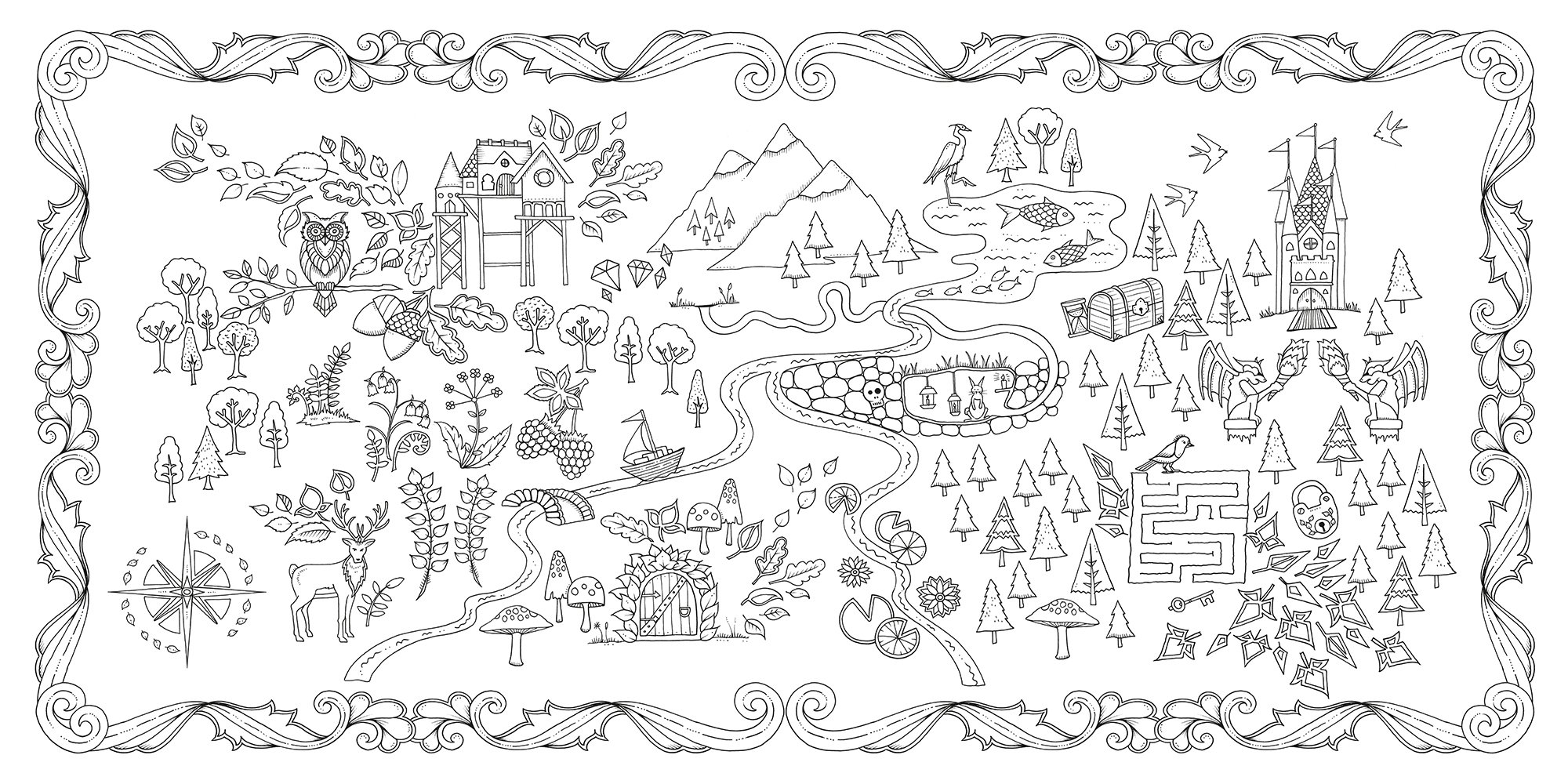 Colouring book secret garden - Buy Enchanted Forest An Inky Quest Coloring Book Book Online At Low Prices In India Enchanted Forest An Inky Quest Coloring Book Reviews Ratings