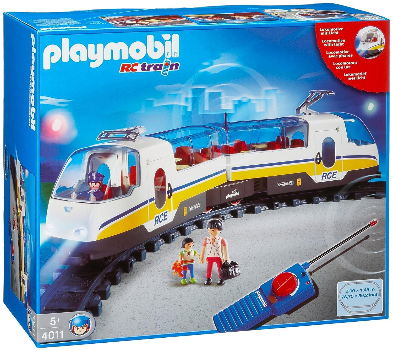 Playmobil 4011 train tgv rc t l com loco rail wagon - Train playmobil ...