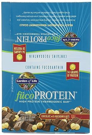 Garden of Life, FucoProtein, High Protein Bar Thermogenic, Schokolade mit Macadamia-Nusse, 12 Bars, 1,94 Unzen (55 g) jede