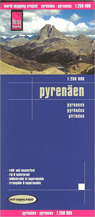 Pyrenees (France, Spain) & Andorra 1:250,000 Travel Map, waterproof, GPS-compatible, REISE written by Reise KnowHow