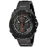Bulova Men's 'Precisionist' Quartz Stainless Steel Watch, Color:Black (Model: 98B257) (Color: Black)