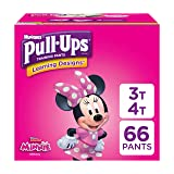 Pull-Ups Learning Designs Training Pants for Girls, 3T-4T (32-40 lbs.), 66 Count, Toddler Potty Training Underwear, Packaging May Vary