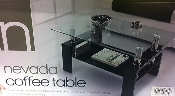 Nevada vetro moderno elegante tavolino nero