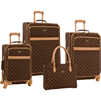 Travel Gear Orion 4-Piece Spinner Luggage Set - Multi Colors