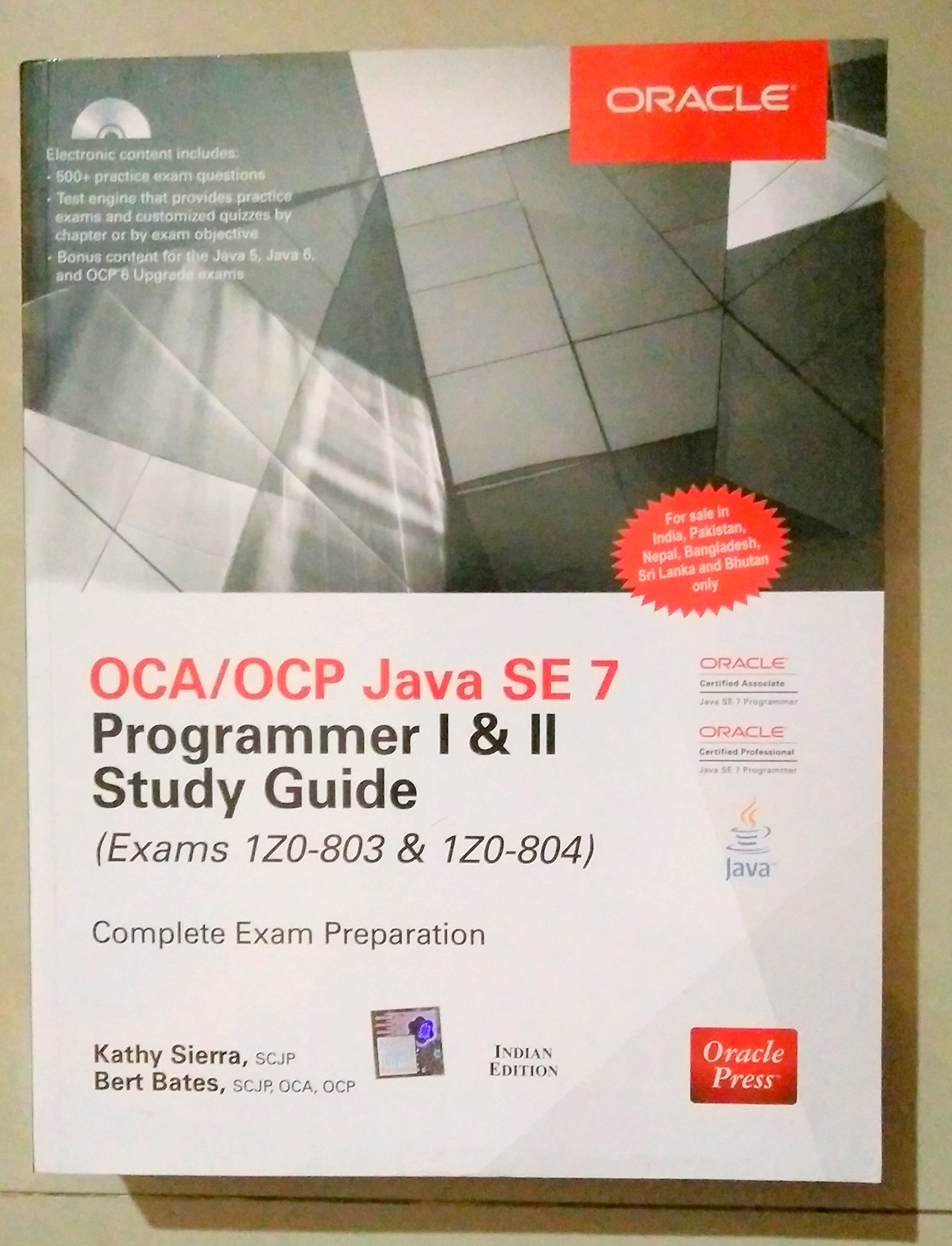 buy oca ocp java se programmer i ii study guide exams z  buy oca ocp java se 7 programmer i ii study guide exams 1z0 803 1z0 804 book online at low prices in oca ocp java se 7 programmer i ii study