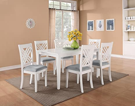 Standard Furniture Brooklyn White Rectangular Dining Table W/ 6 Chairs