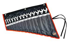 Ergodyne Arsenal 5873 Wrench Roll-Up Pouch, Tall, 14-Pockets, Black (Color: Black, Tamaño: Tall)