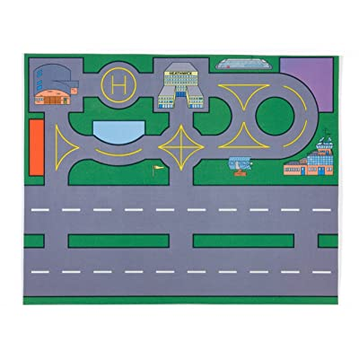 Large Heathwick Airport Playmat (100x75cm) - an air traffic controllers dream! (Toys not included)
