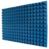 Foamily 6 Pack - Ice Blue Acoustic Foam Sound Absorption Pyramid Studio Treatment Wall Panels, 2