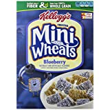 Kellogg's Frosted Mini Wheats Breakfast Cereal, Blueberry, 15.5 ounce Box (Pack of 4) (Tamaño: 15.5-Ounce Boxes (Pack of 4))