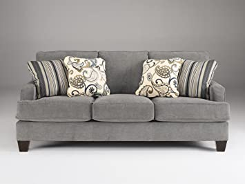 Yvette Steel Collection Soft Fabric Upholstery Metro Modern Design Sofa Couch