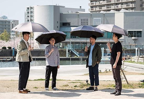 日傘 メンズ 大型 晴雨兼用 遮熱 熱中症対策傘 UVカット 99% 遮光 130cm 長傘 グラスファイバー 16本骨 675(675J/カーキ)
