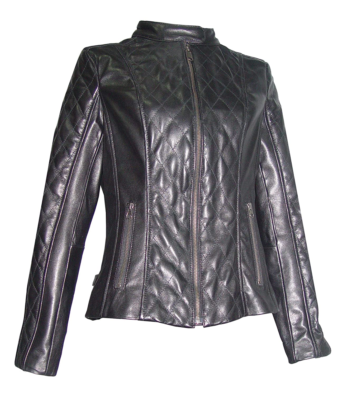 Nettailor WoHerren Plusgr??e 4060 Lamm Leder Quilted Moto Jacke jetzt bestellen