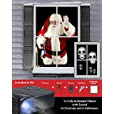 Mr. Christmas Virtual Holiday Projector Kit, Black (Color: Black)