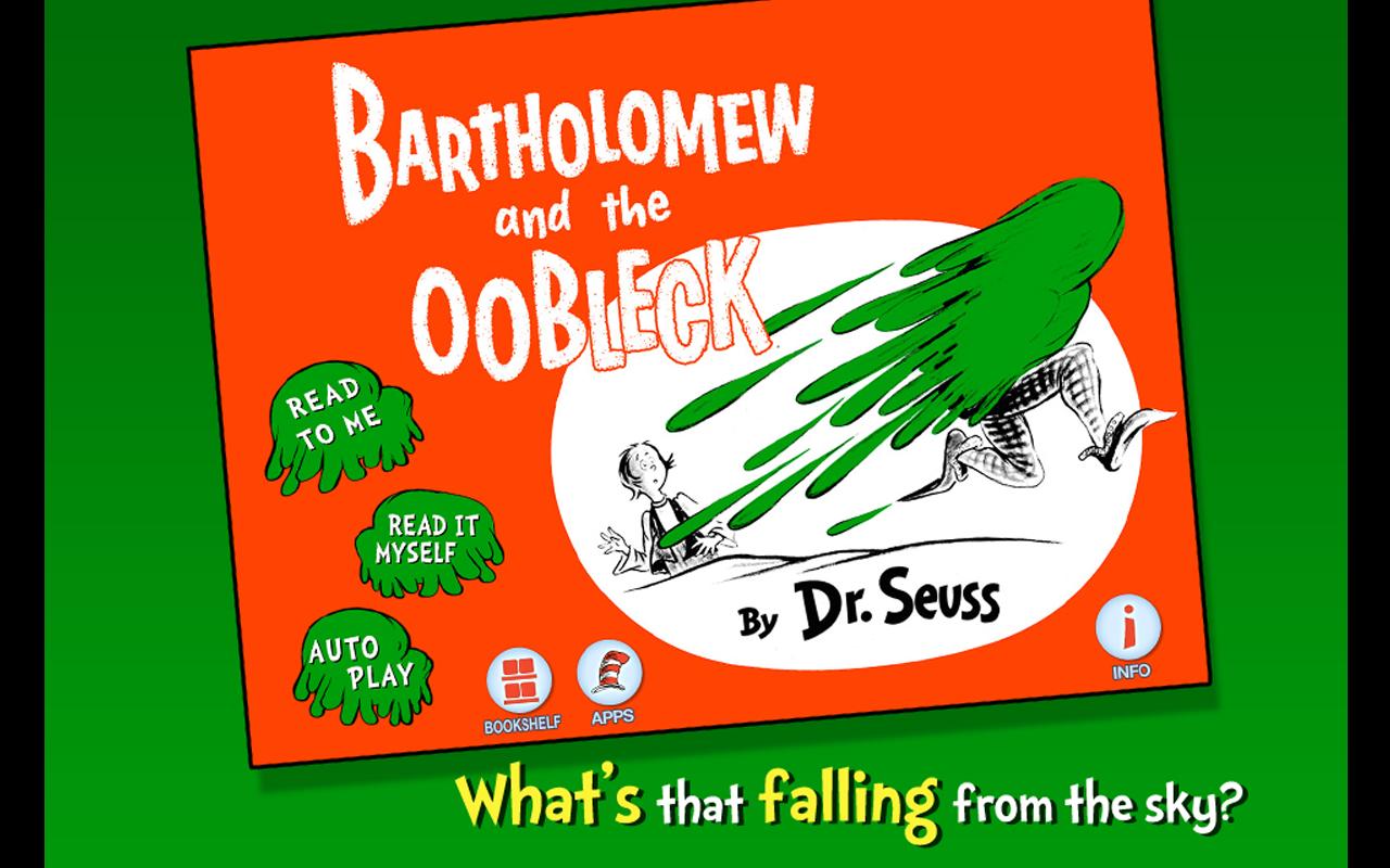 Amazon Com Bartholomew And The Oobleck Dr Seuss