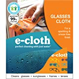 E-Cloth Glasses Cloth for Cleaning Eyeglasses & Sunglasses - Brilliant for Eliminating Dust, Fingerprints, Smudges On Eyewear