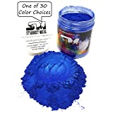 Stardust Micas Pigment Powder Cosmetic Grade Colorant for Makeup, Soap Making Dye, Resin, Epoxy, Nail, DIY Crafting Projects, Bright True Colors Stable Mica Batch Consistency Blue Ice (Color: Blue Ice, Tamaño: 72 Gram Jar)