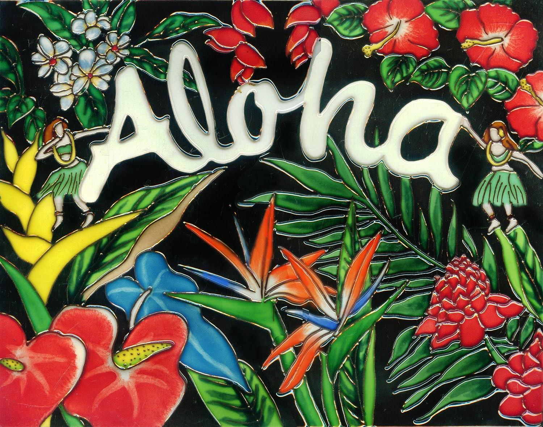"""entiles.com Aloha - Decorative Ceramic Art Tile - 11""""x14"""" by En Vogue - Art on Tiles at Sears.com"""