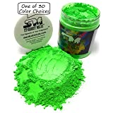 Stardust Mica Neon Pigment Powder for Soap Making, Slime Coloring, Epoxy Resin, Bright True Fluorescent Colors Cold Process Stable Matte Dye Colorant Green Lightning (Color: Green Lightning, Tamaño: 72 Gram Jar)