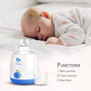 Bellababy Fast Bottle Wamer 3 Levels of Heating BPA Free Light and Compact