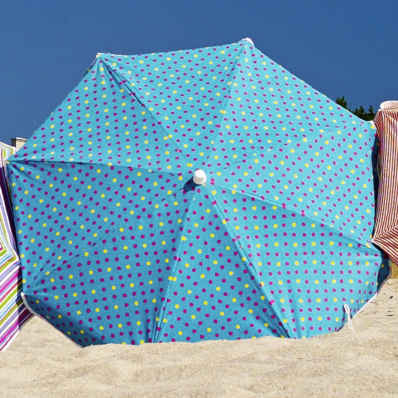 Soleil Sonnenschirm mit Knickgelenk Punkte türkis/pink/gelb – ø 240 cm günstig