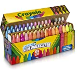 Crayola Sidewalk Chalk, Washable, Outdoor, Gifts for Kids, 64 Count (Color: Assorted, Tamaño: 1 Pack)