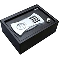 BestOffice Drawer Safe with Electronic Lock (Black)
