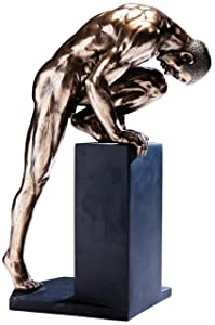 Kare 26 cm Deco Figurine Nude Man Stand Bronze, Bronze       reviews and more information
