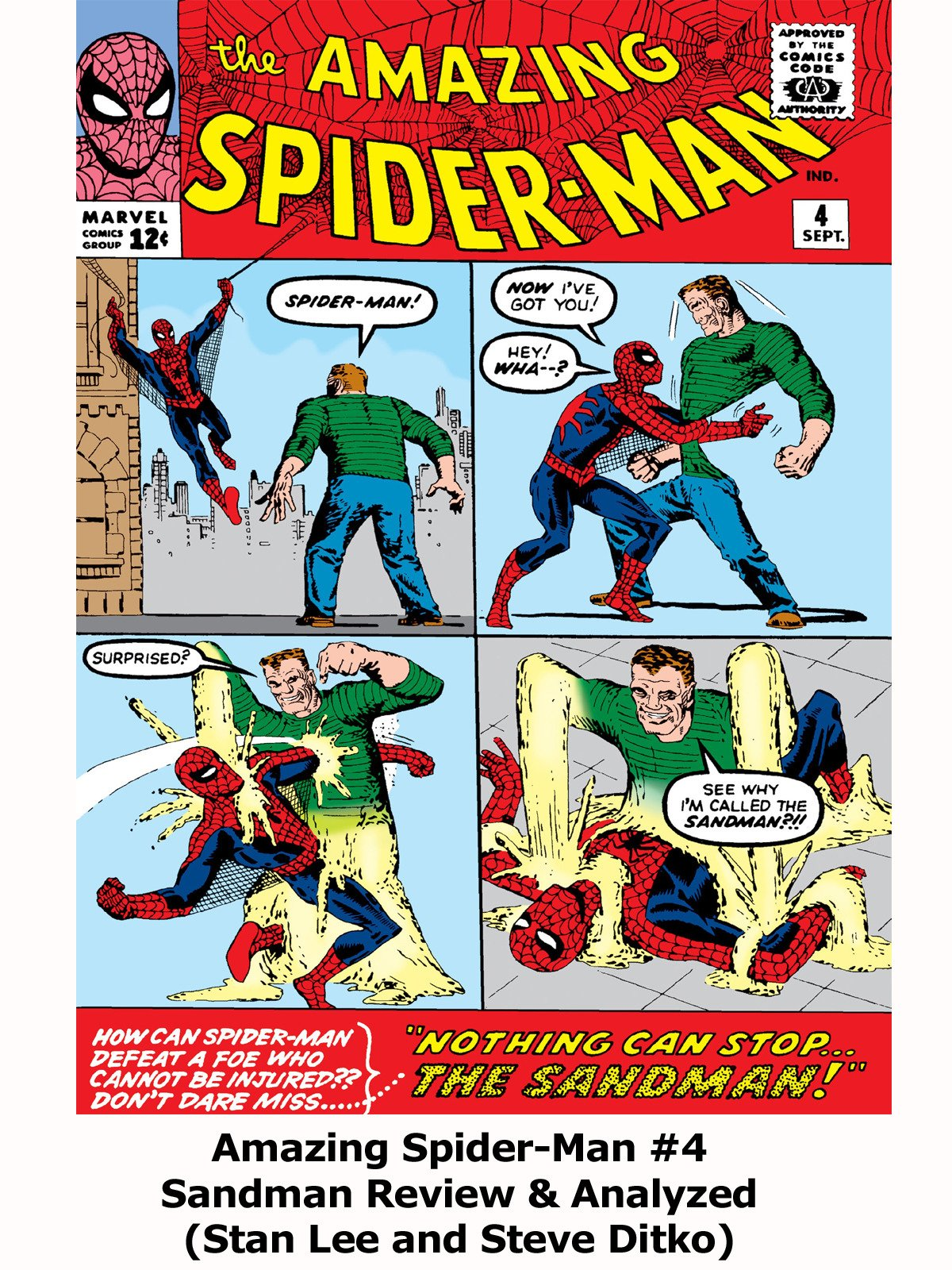 Review: Amazing Spider-Man #4 Sandman Review & Analyzed (Stan Lee and Steve Ditko)