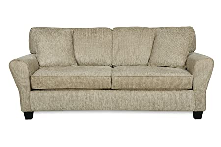 Angel II Pewter Chenille Sofa With Two Toss Pillows